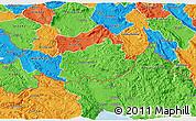 Political 3D Map of Ilirska Bistrica