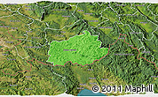 Political 3D Map of Ilirska Bistrica, satellite outside