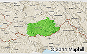 Political 3D Map of Ilirska Bistrica, shaded relief outside
