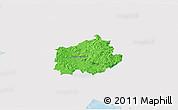 Political 3D Map of Ilirska Bistrica, single color outside