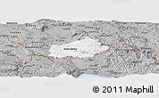 Gray Panoramic Map of Ilirska Bistrica