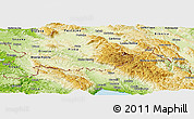 Physical Panoramic Map of Ilirska Bistrica