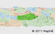 Political Panoramic Map of Ilirska Bistrica, lighten