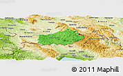 Political Panoramic Map of Ilirska Bistrica, physical outside