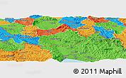 Political Panoramic Map of Ilirska Bistrica