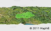 Political Panoramic Map of Ilirska Bistrica, satellite outside