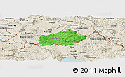 Political Panoramic Map of Ilirska Bistrica, shaded relief outside