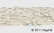 Shaded Relief Panoramic Map of Ilirska Bistrica
