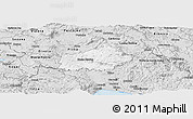 Silver Style Panoramic Map of Ilirska Bistrica
