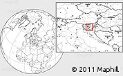 Blank Location Map of Ivancna Gorica
