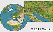 Satellite Location Map of Ivancna Gorica