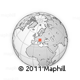 Outline Map of Ivancna Gorica