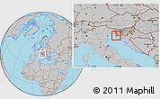 Gray Location Map of Izola