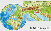 Physical Location Map of Izola
