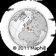 Outline Map of Izola