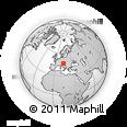 Outline Map of Jesenice