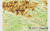 Physical Map of Kamnik