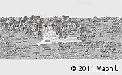 Gray Panoramic Map of Kamnik