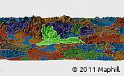 Political Panoramic Map of Kamnik, darken