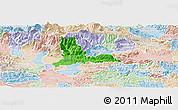 Political Panoramic Map of Kamnik, lighten