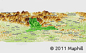 Political Panoramic Map of Kamnik, physical outside