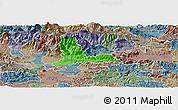 Political Panoramic Map of Kamnik, semi-desaturated
