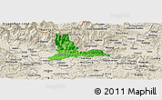 Political Panoramic Map of Kamnik, shaded relief outside