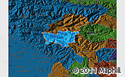 Political Map of Kobarid, darken
