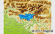 Political Map of Kobarid, physical outside
