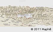 Classic Style Panoramic Map of Kobarid