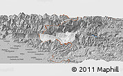 Gray Panoramic Map of Kobarid