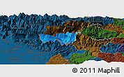 Political Panoramic Map of Kobarid, darken
