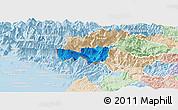 Political Panoramic Map of Kobarid, lighten