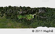 Satellite Panoramic Map of Kobarid, darken