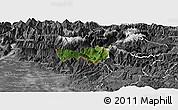 Satellite Panoramic Map of Kobarid, desaturated
