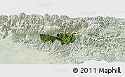 Satellite Panoramic Map of Kobarid, lighten