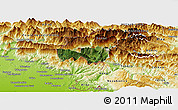 Satellite Panoramic Map of Kobarid, physical outside
