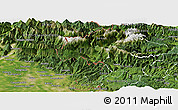 Satellite Panoramic Map of Kobarid