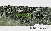 Satellite Panoramic Map of Kobarid, semi-desaturated