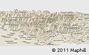 Shaded Relief Panoramic Map of Kobarid