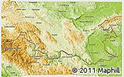 Physical 3D Map of Kocevje