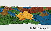Political Panoramic Map of Kocevje, darken