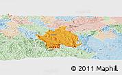 Political Panoramic Map of Kocevje, lighten
