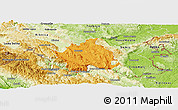 Political Panoramic Map of Kocevje, physical outside