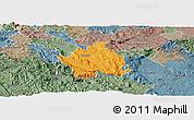 Political Panoramic Map of Kocevje, semi-desaturated