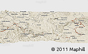 Shaded Relief Panoramic Map of Kocevje