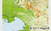 Physical Map of Komen