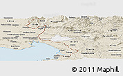 Classic Style Panoramic Map of Komen