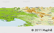 Physical Panoramic Map of Komen
