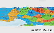 Political Panoramic Map of Komen